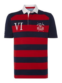 Tytherley short sleeve stripe rugby