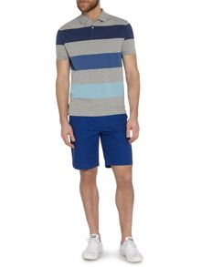 Seneca tonal block stripe polo