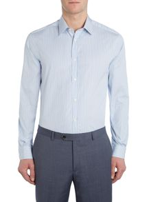 Corsivo Apollo Fine Stripe Italian Cotton Shirt