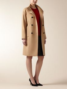 Wool Cash Funnel Coat
