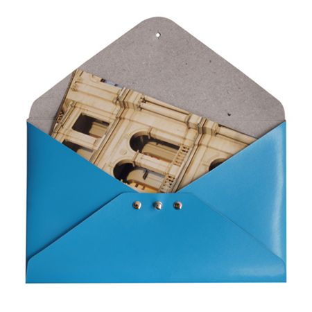 Paper Thinks Blue leather medium file holder