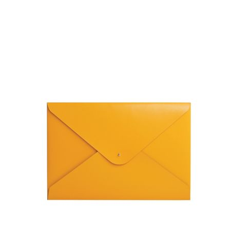 Paper Thinks Yellow leather large A4 folder