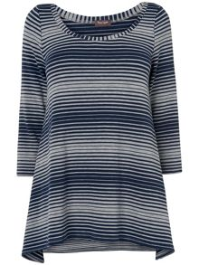 Vera variegated stripe top