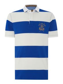 California Block Stripe Short Sleeve Rugby