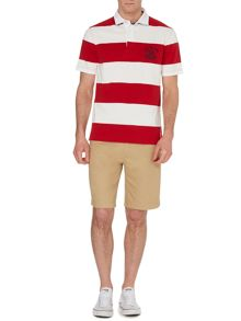 California Block Stripe Short Sleeve Polo