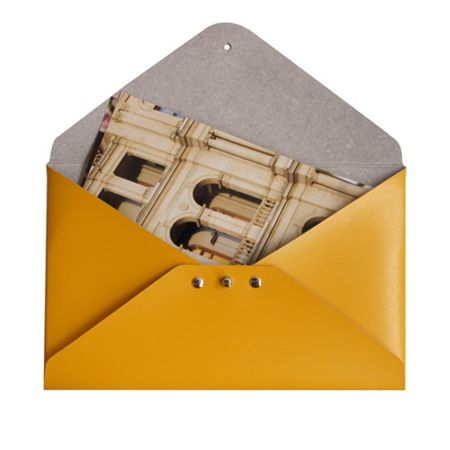 Paper Thinks Yellow leather medium file holder
