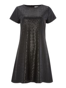 Sequin tee shirt dress