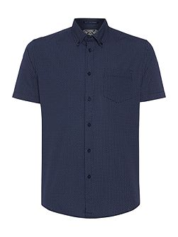 Men's Criminal Blake Short Sleeved Geo Print Shirt