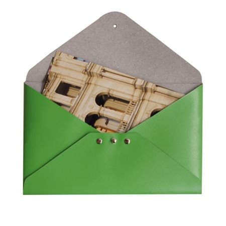 Paper Thinks Green leather medium file holder