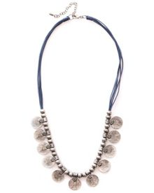 Coin And Cord Necklace