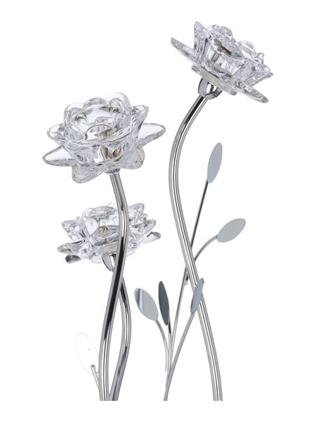 Linea Dahlia 3LT clear flower floor lamp