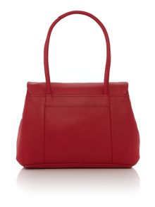Waterloo red medium flapover tote bag