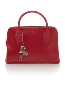Aldgate red medium leather crossbody bag