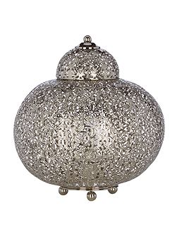 Jasmina moroccan chrome table lamp