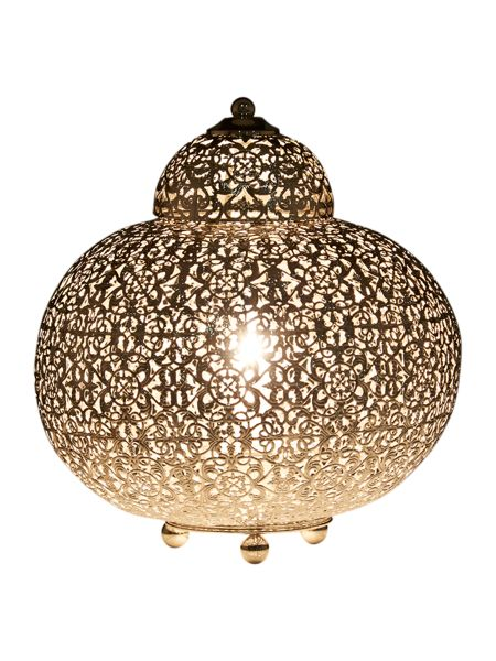 Linea Jasmina moroccan chrome table lamp