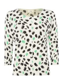 Linea Essential safari print 3/4 sleeve cardigan