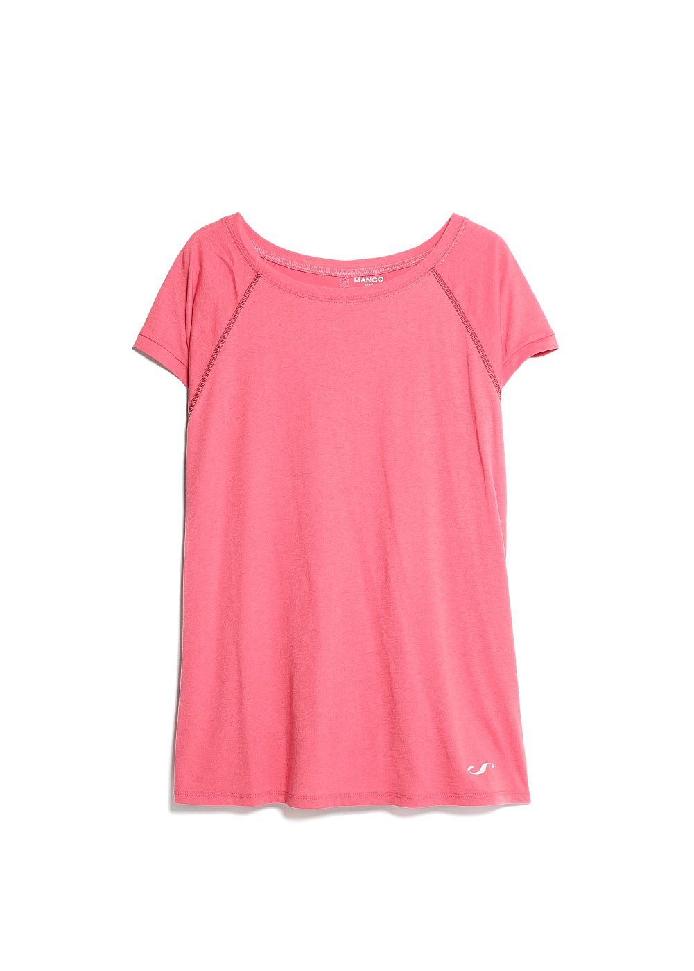 Mango Comfort breathable t-shirt, Pink