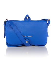 Blue medium leather cross body bag