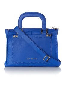 Blue large cross body satchel