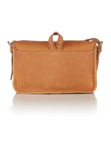 Tan medium leather cross body bag
