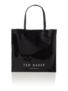 Black large bowcon tote bag