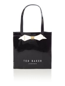 Black small bowcon tote bag