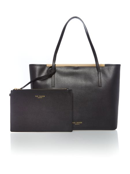 Ted Baker Black large saffiano leather tote bag