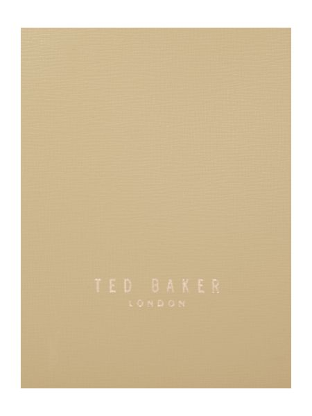 Ted Baker Brown small saffiano tote bag
