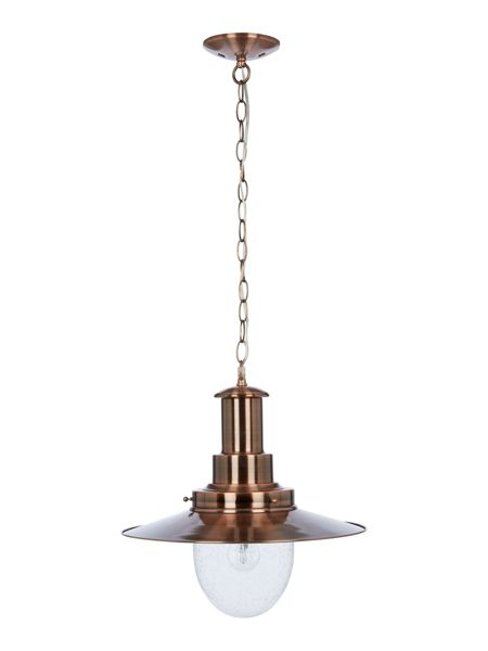 Linea Klaus 1LT copper and glass seeded ceiling pendant