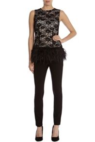 Freya feather lace top
