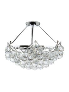 Katelyn 5LT clear ball semi flush ceiling light