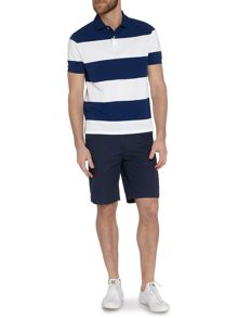 Newport short sleeve stripe pique polo