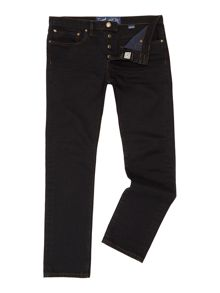 Slater slim leg dark wash jean
