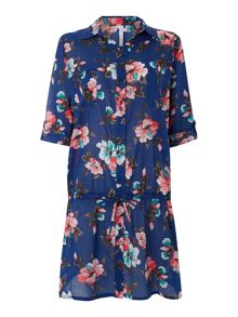 Vintage Vacation Hula shirt dress