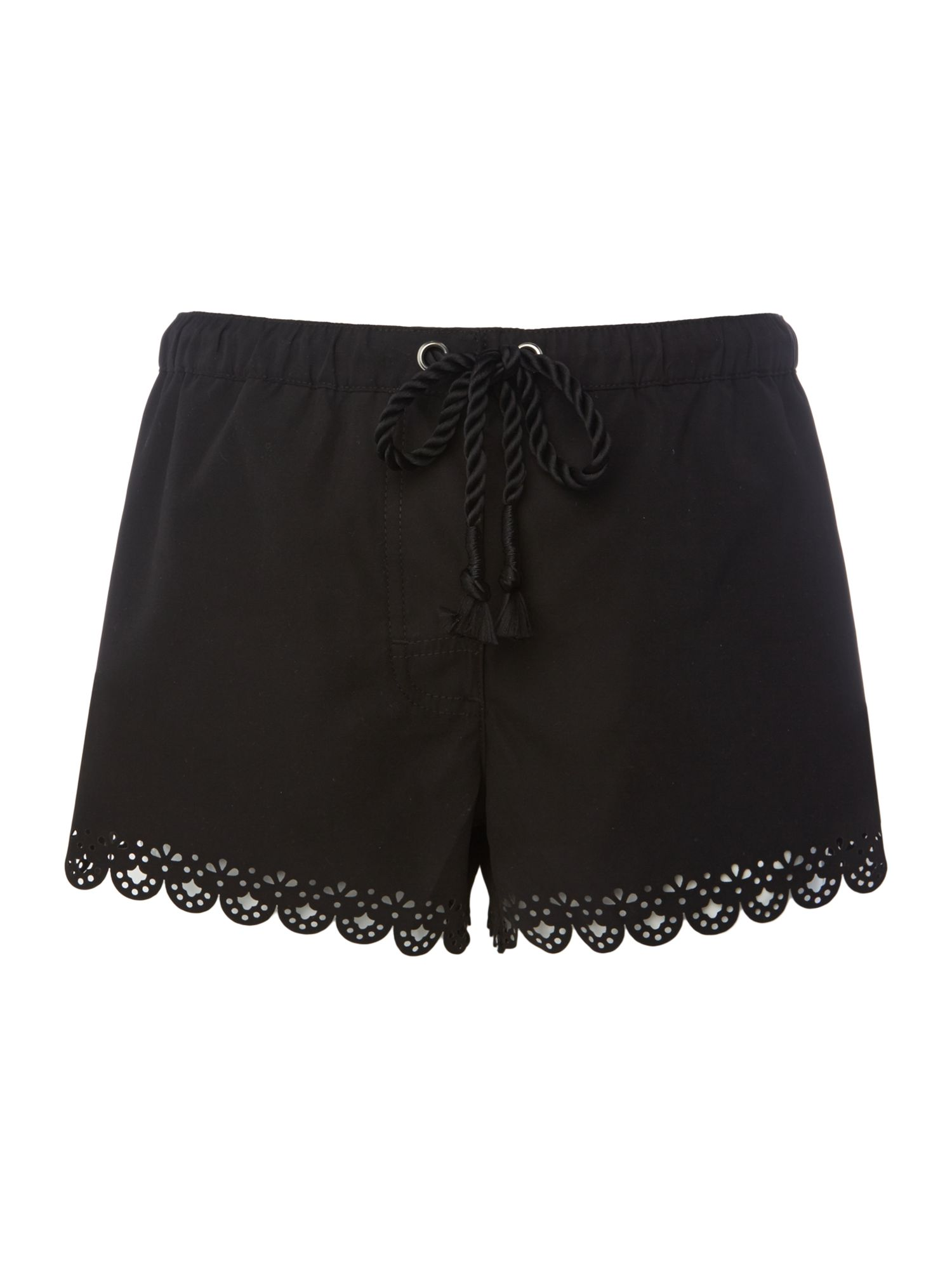 Seafolly Bella lazer cut board shorts, Black