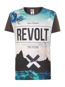 All over island graphic tee
