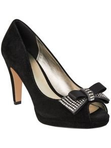 Phase Eight Lauren bow peep toe shoes