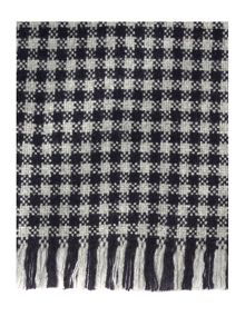 Hopsack small check scarf