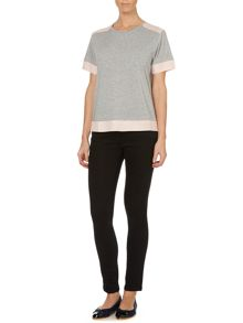 Tracey Tee with Contrast Panel