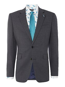 Fern fine stripe notch lapel suit jacket