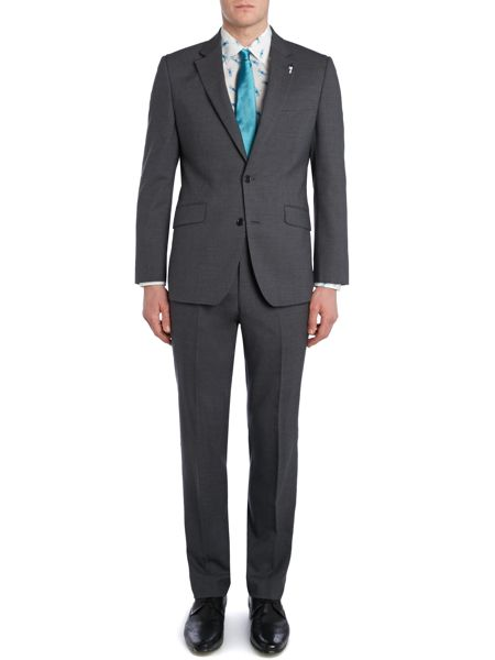 New & Lingwood Fern fine stripe notch lapel suit jacket