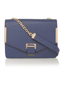 Blue medium flapover shoulder bag