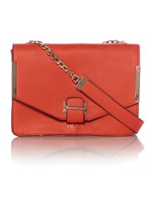 Red medium flapover shoulder bag