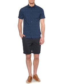 Linea Allard Double Spot Print Short Sleeve Shirt