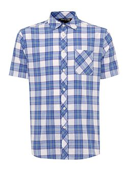 Olton short sleeved check shirt