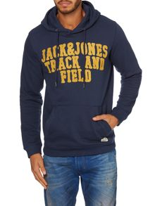Mens long sleeved hoody college sweat