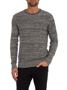 Men`s crew neck space dye knitwear