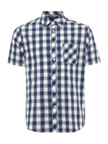 Farmoor short sleeved gingham check shirt