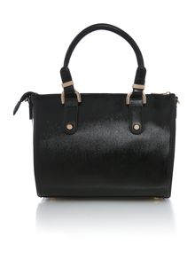 Black mini saffiano tote bag