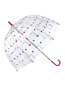Lulu Guinness Two face birdcage umbrella